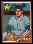 1962 Topps #156 A Merritt Ranew  Front Thumbnail