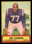 1963 Topps #5  Jim Parker  Front Thumbnail