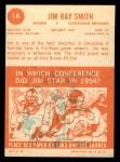 1963 Topps #18   Jim Ray Smith Back Thumbnail