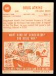 1963 Topps #68   Doug Atkins Back Thumbnail