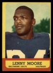 1963 Topps #2  Lenny Moore  Front Thumbnail