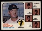 1973 Topps #131 BRN Red Sox Field Leaders  -  Eddie Kasko / Doug Camilli /  Don Lenhardt / Eddie Popowski / Lee Stange Front Thumbnail