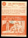 1963 Topps #31   Carl Brettschneider Back Thumbnail