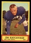 1963 Topps #55   Jim Katcavage Front Thumbnail