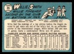 1965 Topps #85   Willie Smith Back Thumbnail