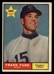 1961 Topps #362   Frank Funk Front Thumbnail
