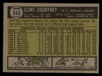 1961 Topps #342  Clint Courtney  Back Thumbnail
