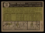 1961 Topps #85   Jerry Walker Back Thumbnail