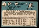 1965 Topps #92  Dick Howser  Back Thumbnail