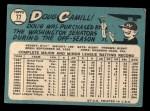 1965 Topps #77  Doug Camilli  Back Thumbnail