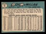 1965 Topps #45   Roy McMillan Back Thumbnail