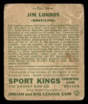 1933 Goudey Sport Kings #14   Jim Londos  Back Thumbnail