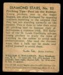 1935 Diamond Stars #23   Bill Hallahan  Back Thumbnail