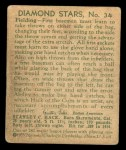 1935 Diamond Stars #34   Stan Hack  Back Thumbnail