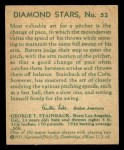 1935 Diamond Stars #52   George Tuck Stainback  Back Thumbnail