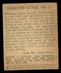 1935 Diamond Stars #31 CHI  Kiki Cuyler  Back Thumbnail