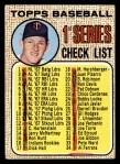 1968 Topps #67 B Checklist 1  -  Jim Kaat Front Thumbnail