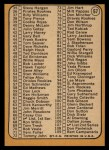 1968 Topps #67 B Checklist 1  -  Jim Kaat Back Thumbnail