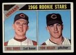 1966 Topps #44  Indians Rookies  -  Tom Kelly / Bill Davis Front Thumbnail