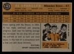 1960 Topps #143  Rookie Stars  -  Al Spangler Back Thumbnail