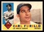1960 Topps #408   Carl Furillo Front Thumbnail