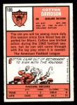 1966 Topps #109   Cotton Davidson Back Thumbnail
