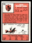 1966 Topps #129  Don Norton  Back Thumbnail