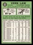 1967 Topps #351  Vern Law  Back Thumbnail
