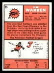 1966 Topps #85   Jim Warren Back Thumbnail