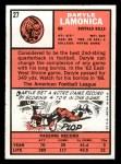 1966 Topps #27   Daryle Lamonica Back Thumbnail