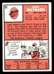 1966 Topps #95   Don Maynard Back Thumbnail