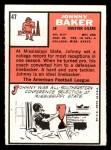 1966 Topps #47   John Baker Back Thumbnail