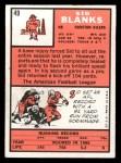 1966 Topps #49   Sid Blanks Back Thumbnail