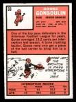 1966 Topps #33   Goose Gonsoulin Back Thumbnail