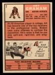 1966 Topps #7  Art Graham  Back Thumbnail