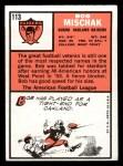1966 Topps #113  Bob Mischak  Back Thumbnail