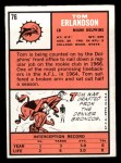 1966 Topps #76   Tom Erlandson Back Thumbnail
