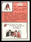 1966 Topps #5   Bob Dee Back Thumbnail