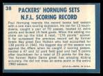 1961 Topps #38  Paul Hornung  Back Thumbnail