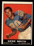 1961 Topps #54   Gene Brito Front Thumbnail