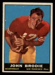 1961 Topps #59  John Brodie  Front Thumbnail