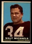 1961 Topps #75  Walt Michaels  Front Thumbnail