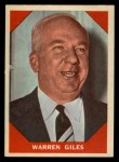 1960 Fleer #73   Warren Giles Front Thumbnail
