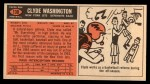 1965 Topps #130   Clyde Washington Back Thumbnail