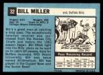 1964 Topps #32  Bill Miller  Back Thumbnail
