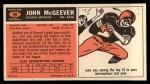 1965 Topps #59  John McGeever  Back Thumbnail