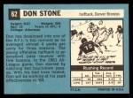1964 Topps #62  Don Stone  Back Thumbnail
