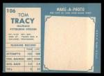 1961 Topps #106   Tom Tracy Back Thumbnail