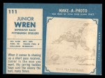 1961 Topps #111  Junior Wren  Back Thumbnail