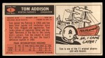 1965 Topps #1   Tom Addison Back Thumbnail
